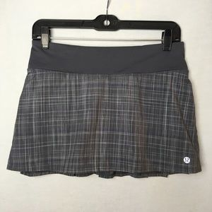 Lululemon plaid tennis skirt